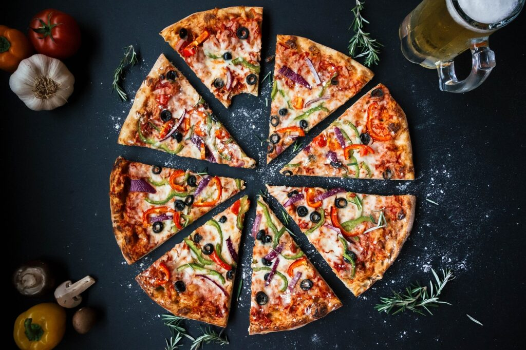 pizza, food, italian